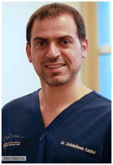 عبد العظيم كامكار أخصائي العلاج الطبيعي